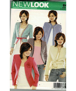 New Look Pattern 6487 Misses Open Jacket With Variation In Trims Sizes 8... - $6.93