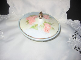 handpainted and signed covered dish lovely old - $40.00