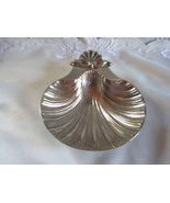 silver shell shaped dish marked sheffield  - $25.00