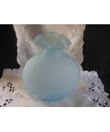 blue satin glass vase beautiful design - $30.00