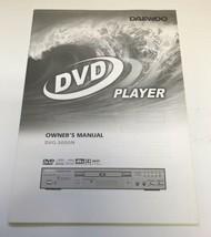 Daewoo DVG-3000N DVD player Owners Manual - $7.99