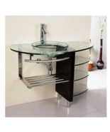 "Modern Wall-Mounted 40"" Bathroom Vanity Set With Contemporary Chrome Fxt... - $457.79"