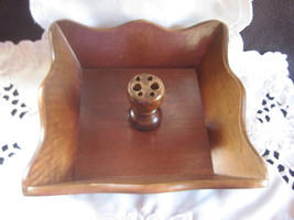 wooden vintage nut bowl  - $30.00