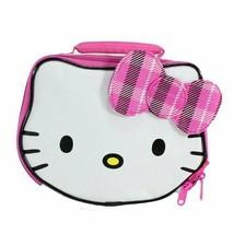 Hello Kitty Sanrio White Lead-Free Insulated Lunch Tote Box w/ Plaid Bow Nwt - $7.36
