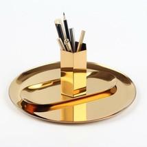 3pcs Metal Storage Tray Dinning Table Organizer Decor Pen Holder Photo P... - €52,65 EUR