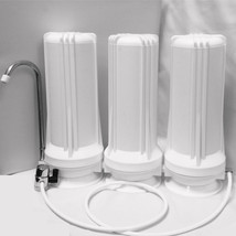 Counter Top Water Filter - 3 Stages Water Filter System - Drinking Water... - $64.35