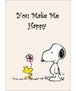 """Snoopy And Woodstock Collectible Peanuts """"You Make Me Happy"""" Stand-Up Di... - $15.99"""