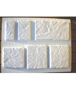 "6 Concrete Wall Cap Molds, Make Tile Pavers Fireplace Rock Mixed 10"" Siz... - $69.99"