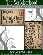I've Been Good christmas primitive santa cross stitch chart The Stitcherhood - $7.20