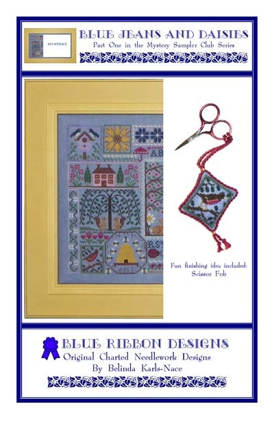 WDW FLOSS BUNDLE for Blue Jeans And Daisies PT1 MYSTERY SAMPLER Blue Ribbon Desi