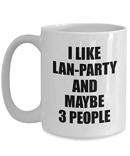 Primary image for LAN-Party Mug Lover I Like Funny Gift Idea for Hobby Addict Novelty Pun Coffee T