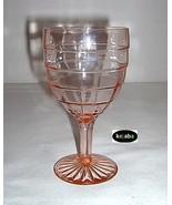 Block Optic Pink Goblet 5 3/4 inch 9 oz. Hocking - $27.95