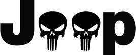 JEEP punisher skulls Decal Fender Window Sticker (SET OF 2)  - $9.00