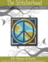 Peace On Earth primitive hippie cross stitch chart The Stitcherhood - $7.20