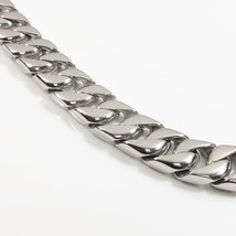 "Stainless Steel Polish Curb Chain Men Bracelet 12mm 8.5"" - $32.00"