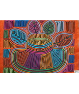 Kuna Abstract Traditional Mola Art Hand stitche... - $69.29