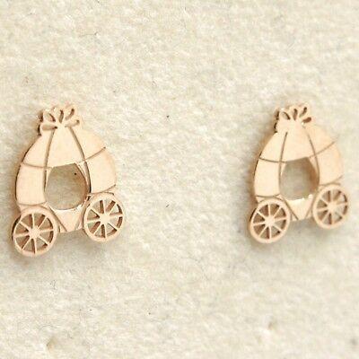 Silber Ohrringe 925 Laminat aus Gold Pink Le Favole mit Personenwagen A Pumpkin