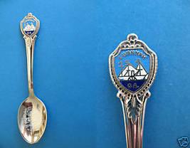 SAVANNAH GEORGIA Souvenir Collector Spoon Collectible SAILBOAT Scene - $5.95