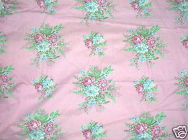 Vintage 1930s French Floral Curtain Fabric Rose... - $309.99