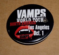 Vamps Band Button Los Angeles Avalon Hollywood Oct. 2010 - $19.98