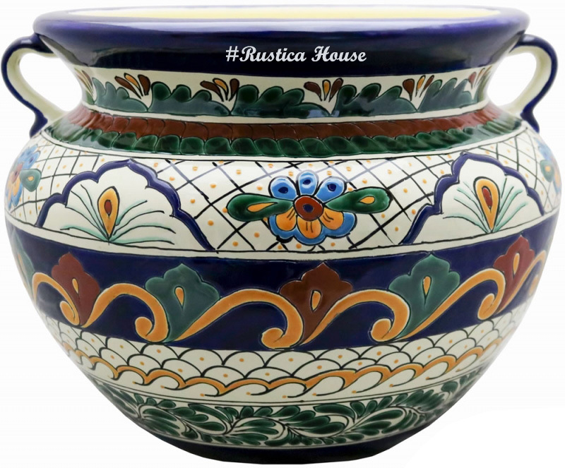 90304 ceramic talavera mexican hand painted planters 1 size1