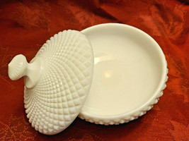 Westmoreland English Hobnail Milk Glass Footed Covered Round Candy Dish Bowl image 2