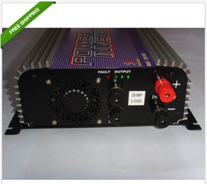 UNIQUE 500W 12V Inverter for wind/hydro turbines-MAKES ELEC METER RUN SLOWER! FR