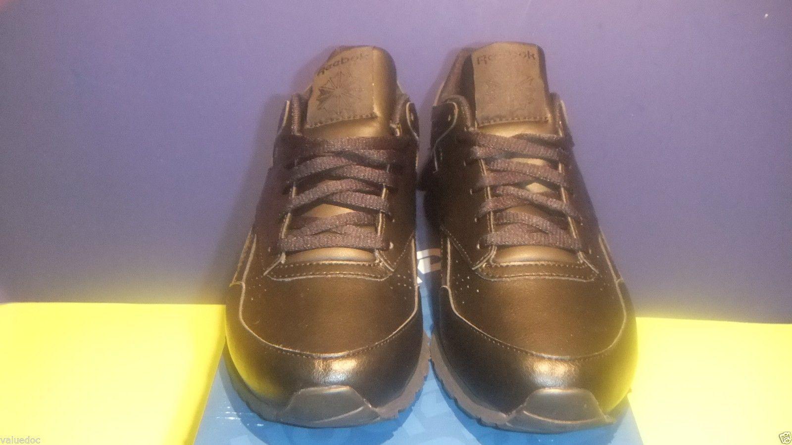 REEBOK RECORD MILE LEATHER MEN'S Size 5 EU 36.5 Black J88550