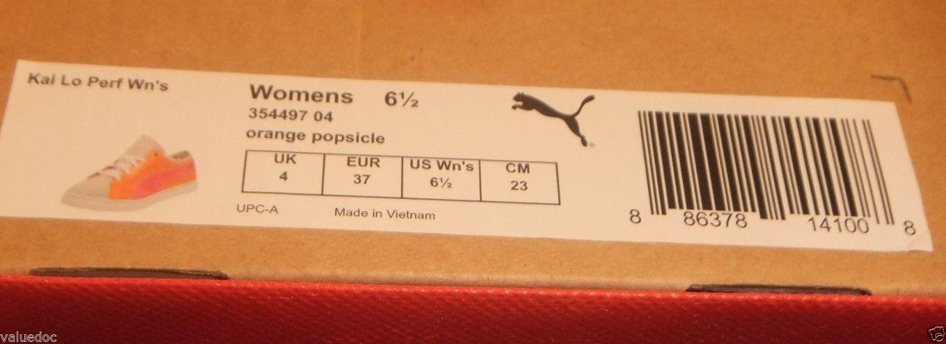 PUMA KAI LO PERFORATED ORANGE POPSICLE WOMENS US Size 6.5 EU 37 354497 04