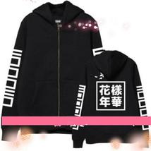 Kpop Zipper Hoodie In Bloom Boys Jung kook Sweatershirt Coat - $25.12