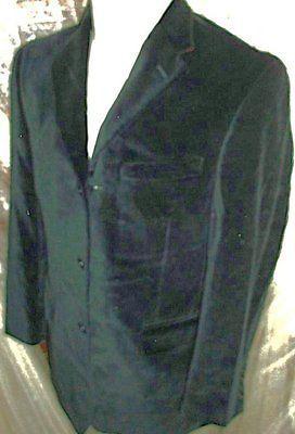 D23 38S BLACK VELVET HILFIGER BLAZER Sport Coat Jacket Hand stitched mens smokin