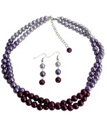 Pretty Purple Jewelry Set In Gorgeous Colors Pl... - $21.18