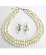 Beautiful Designed Jewelry Ivory Pearl Wedding ... - $21.83