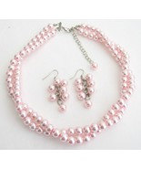 Wedding Bridesmaid Bridal Jewelry Stunning Pink... - $19.23