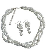 Impressive Bridal Jewelry In Rich White Pearl R... - $27.68