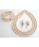 Jewelry Set Perfect Brides Bridesmaids Lite Pin... - $30.28