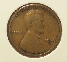 1928-S Lincoln Wheat Back Penny VG #1182 - $1.29