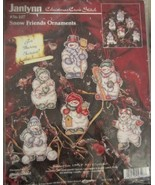 Snow Friends Ornaments, Counted Cross Stitch Kit - $34.34