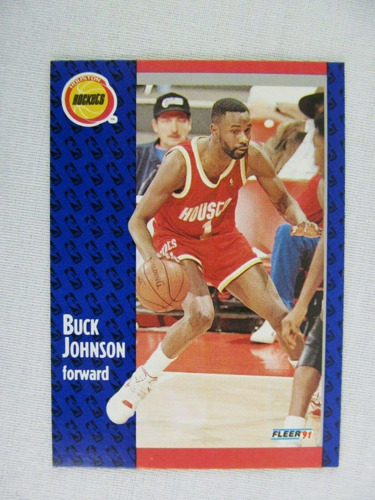 Buck Johnson Houston Rockets 1991 Fleer Basketball Card 75