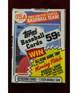 1985 Topps Factory Sealed CELLO Pack MARK McGWIRE Rookie ON TOP  - $123.75