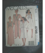 Vintage McCall's 8795 Pattern Robe Gown B32.5 Bill Tice Uncut Factory Fo... - $9.89