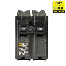 Square D Homeline 20-Amp 2-Pole Standard Trip Circuit Breaker HOM220 - $9.50