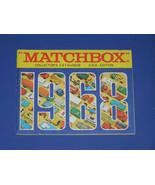 MATCHBOX CATALOG 1968  CATALOG - $10.50
