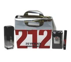 CAROLINA HERRERA 212 VIP BLACK #OWNTHEPARTY GIFT SET F/M EAU DE PARFUM S... - $78.71