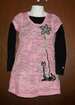 Toddler Girls Black Cat with an Attitude Dress & Top Size 4T - $30.00
