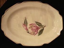 Sabin Magnolia Platter Pink Flower Warranted 22K pattern 109 VERY RARE V... - £30.98 GBP