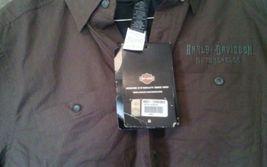 Harley Davidson Men's Woven Short Sleeve Skull Shirt 96521-112Vm 000s small image 3