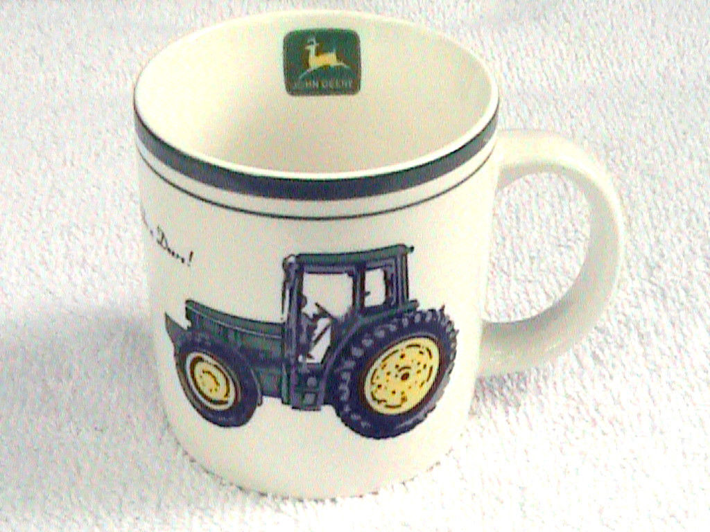 John Deere Coffee Mug Farm Tractor Cup Deer Logo Gibson Dinnerware