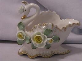 Lefton China Pink Swan Planter - $9.95