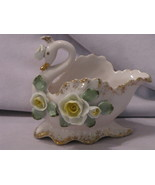 Lefton China Pink Swan Planter - $9.95